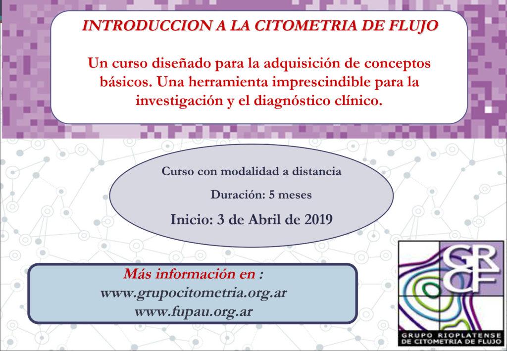 2019- Curso Introducción a la Citometría de Flujo